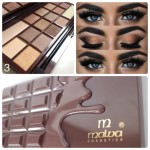 Malva Cosmetics Eyeshadow Palette Chocolate Палетка Теней Шоколад 03